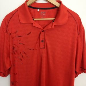 ADIDAS CLIMA COOL SHORT SLEEVE LARGE RED POLO